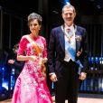 Le roi Felipe VI et la reine Letizia d'Espagne - Les dignitaires du monde entier assistent au banquet donné à l'occasion de la cérémonie d'intronisation de l'empereur du Japon Naruhito à Tokyo, le 22 octobre 2019.