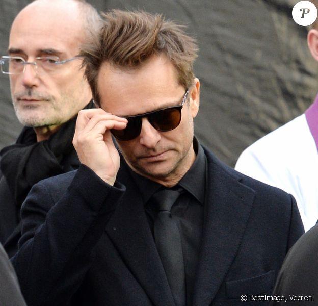 David Hallyday - Sorties de l'église de la Madeleine après les obsèques de Johnny Hallyday à Paris le 9 décembre 2017. © Veeren / Bestimage