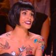 """Shy'm a des peintures sur le corps. Emission """"Danse avec les stars 2019"""" sur TF1. Le 19 octobre 2019"""