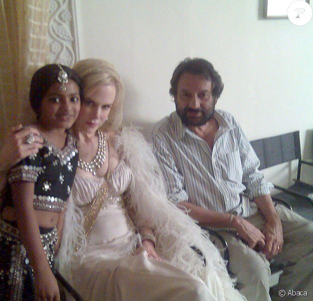 Rubina Ali sur le tournage d'une publicité avec Nicole Kidman