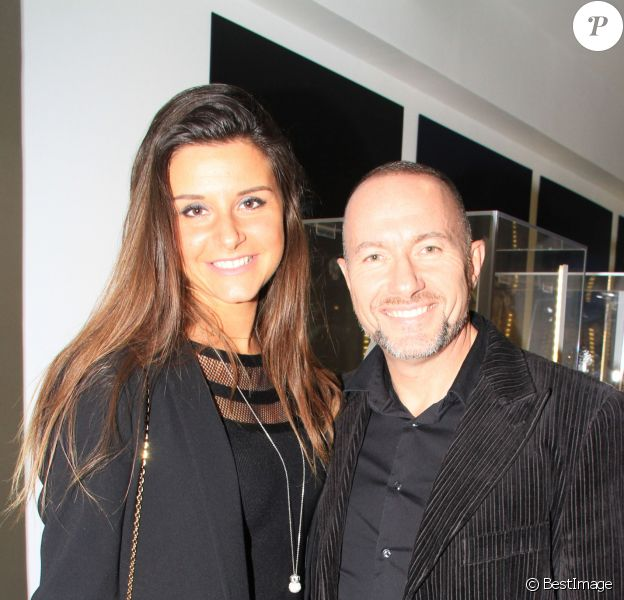 Exclusif - Pascal Soetens et son amie Charlotte assistent à la soirée du joaillier Courbet à l'Institut Bokassa à Paris. Le 25 octobre 2019 © Philippe Baldini / Bestimage
