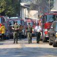 Un nouvel incendie éclate à Los Angeles. Plusieurs milliers de personnes ont été réveillées au beau milieu de la nuit par des alertes envoyées sur téléphones mobiles, leur demandant d'évacuer au plus vite. Le 28 octobre 2019.
