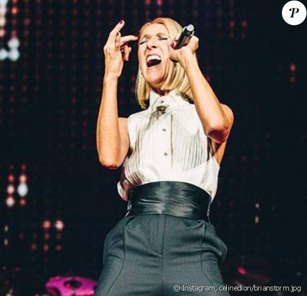 Céline Dion en concert à Cincinnati pour le Courage World Tour, octobre 2019