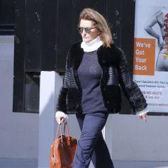 Exclusif - Cécilia Attias se promène sur Madison Avenue à New York le 23 février 2016
