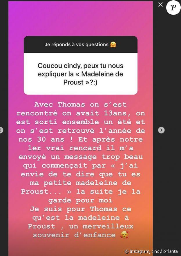"""Cindy de """"Koh-Lanta"""" se confie sur sa rencontre avec son futur mari Thomas, le 30 octobre 2019, sur Instagram"""