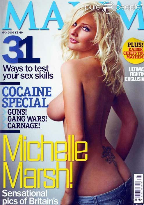Michelle Marsh en couverture de l'édition anglaise de mai 2007 de Maxim
