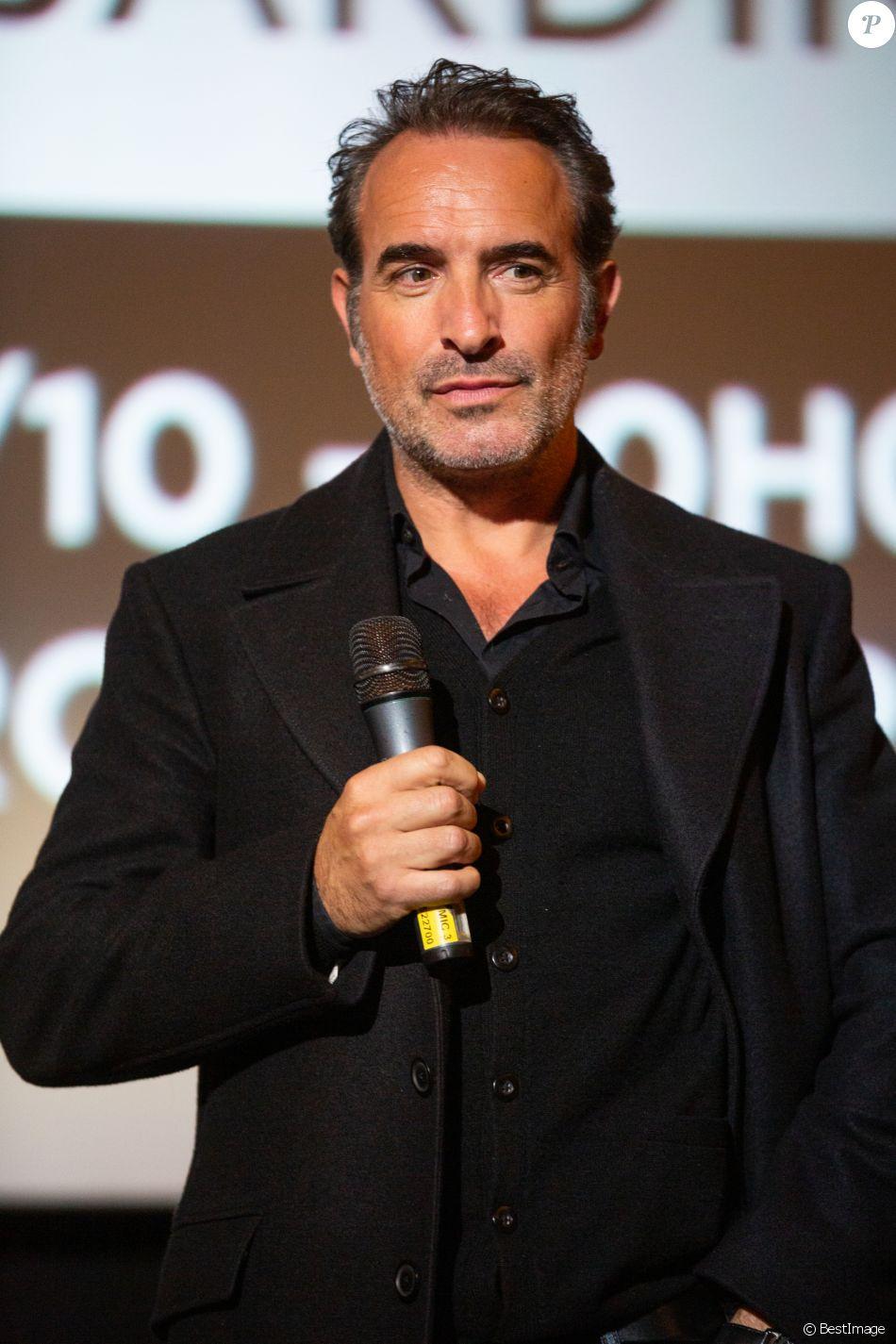 Jean Dujardin lors de l'avant-première du film 'J'accuse' au cinéma UGC de Brouckère, à Bruxelles