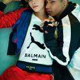Cara Delevingne et Olivier Rousteing dans la nouvelle campagne de Puma en collaboration avec Balmain.