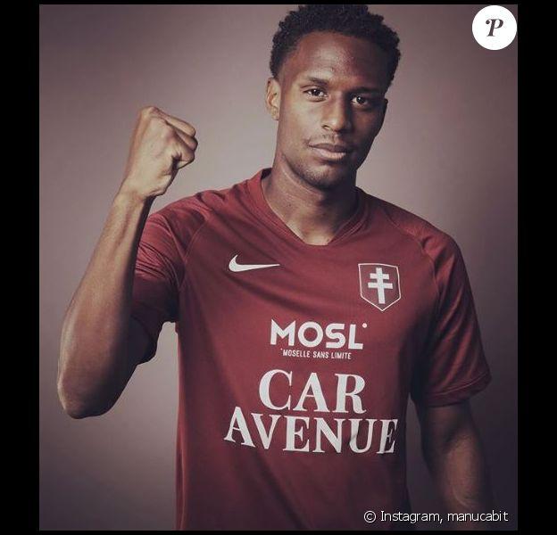 Manuel Cabit porte le maillot du FC Metz. Photo publiée sur Instagram le 7 août 2019.