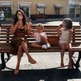 Kourtney Kardashian et ses enfants Reign et Penelope en Italie. Octobre 2019.