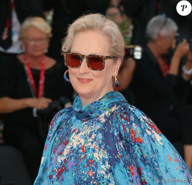 """Meryl Streep lors du red carpet du film """"The Laundromat"""" au 76ème festival international du film de Venise, la Mostra le 1er septembre 2019. © Mark Cape / Panoramic / Bestimage"""