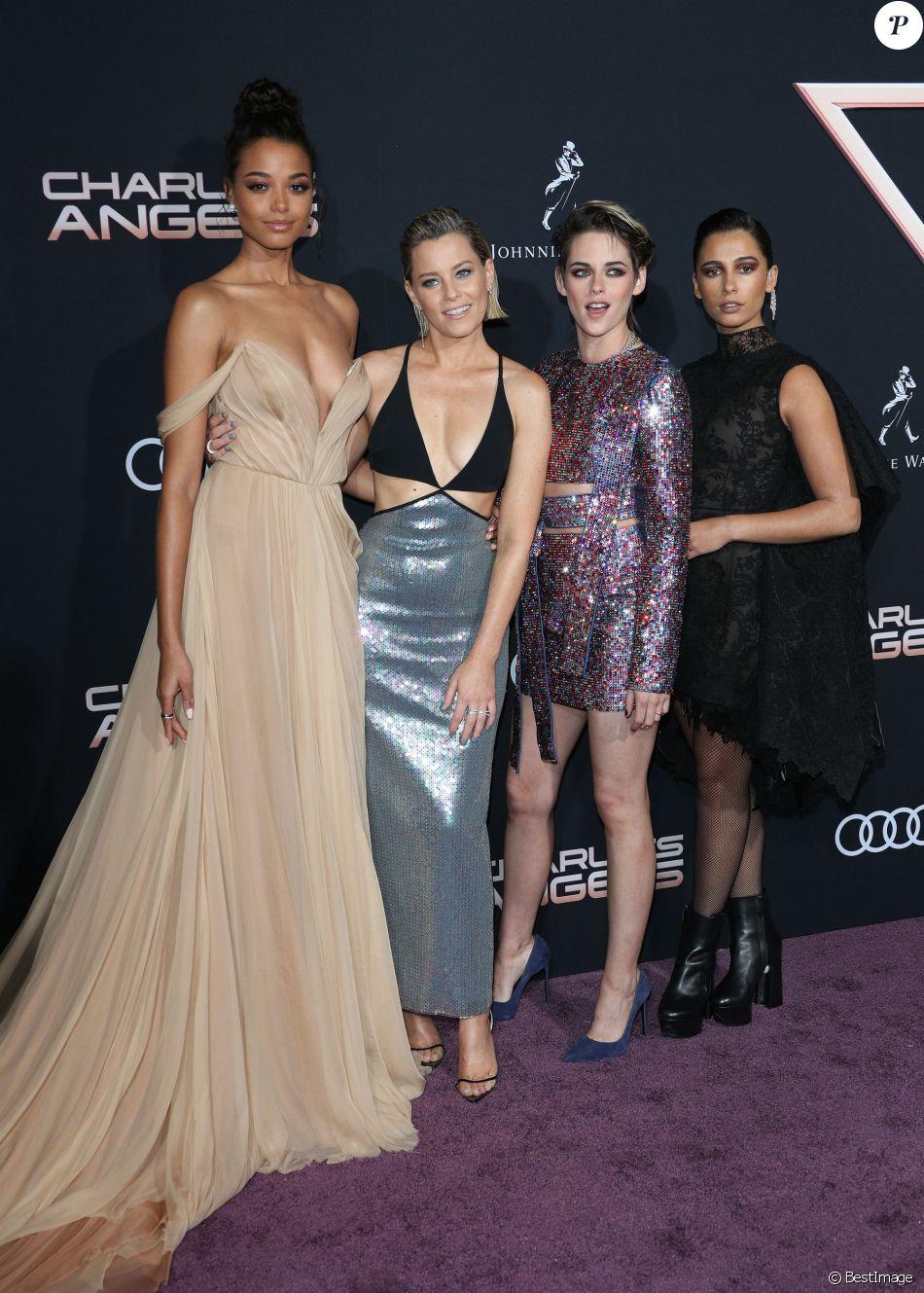 """Kristen Stewart, Naomi Scott, Ella Balinska, Elizabeth Banks - Les célébrités assistent à la première du film """"Charlie's Angels"""" à Los Angeles, le 11 novembre 2019."""