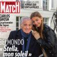 Jean-Paul Belmondo et sa fille Stella Belmondo en couverture de Paris Match, n°3680 du 14 novembre 2019.