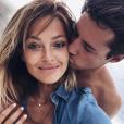 Caroline Receveur et son chéri Valentin Lucas à Ibiza le 8 août 2016.