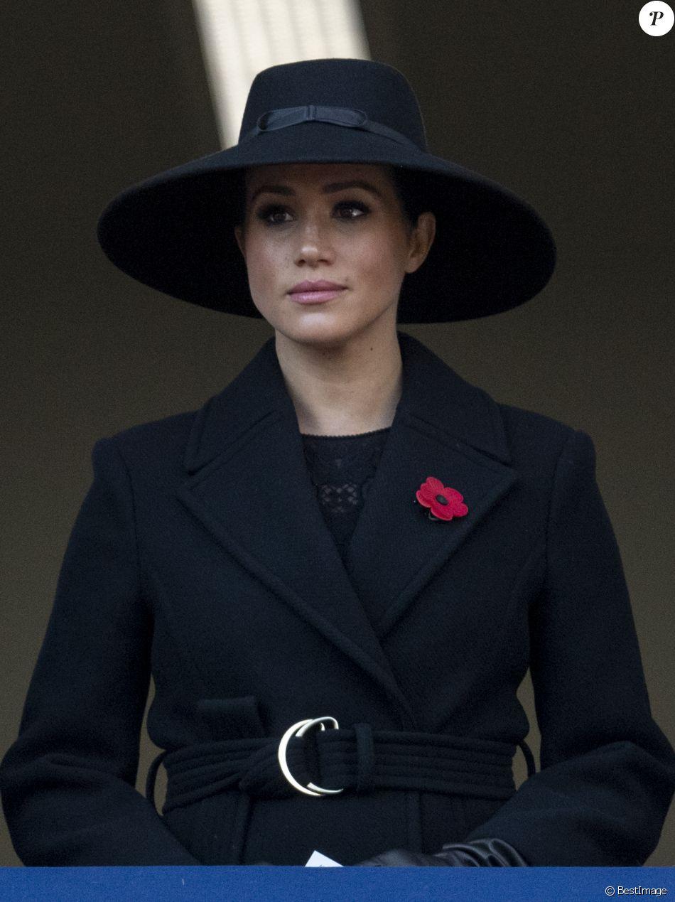 Meghan Markle, duchesse de Sussex - La famille royale d'Angleterre lors du National Service of Remembrance à Londres le 10 novembre 2019.