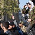 Semi-Exclusif - Concert sauvage du rappeur Nekfeu en soutien au mouvement Nuit Debout place de la République à Paris, le 1er mai 2016.