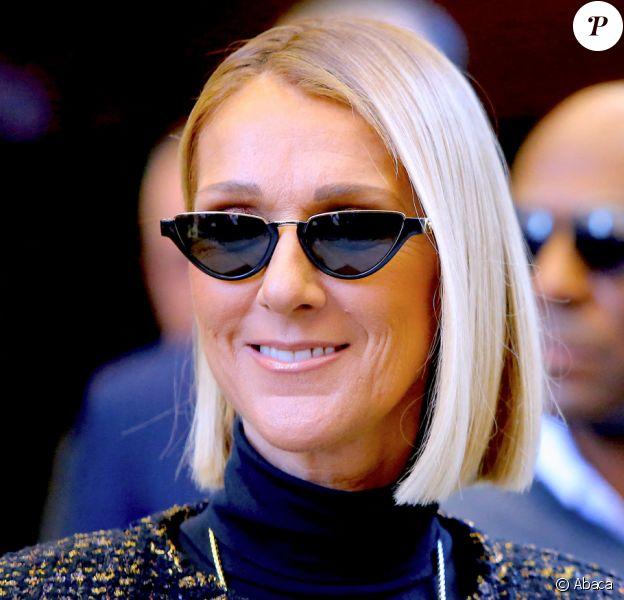 Céline Dion quitte son hôtel. New York. Le 15 novembre 2019. @Dylan Travis/ABACAPRESS.COM