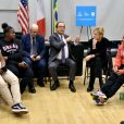 Julie Gayet et François Hollande se sont rendus à la Dream Charter School de New York le 18 novembre 2019.