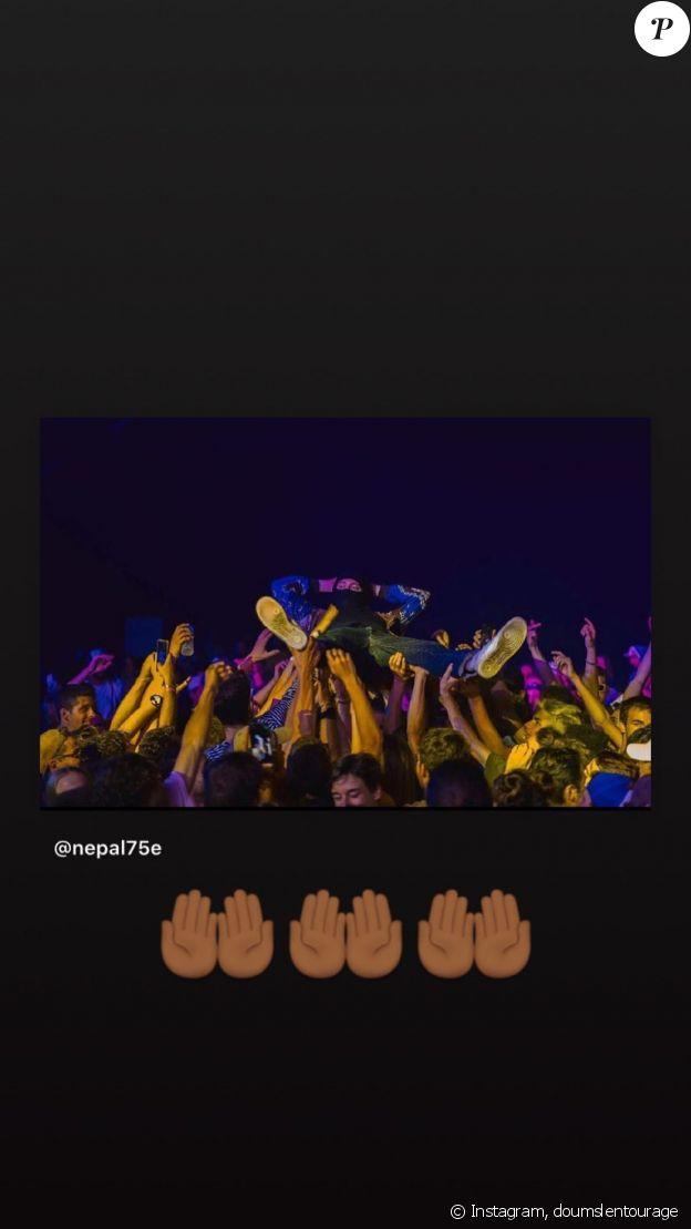 La tristesse de Doums après la mort de Népal, sur Instagram, le 20 novembre 2019.
