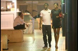 L'ex-star du Barça Samuel Eto'o et sa femme Georgette, en balade romantique dans Saint-Trop'... by night !