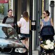 Exclusif - Pippa Middleton avec son bébé Arthur dans les rues de Londres, le 21 août 2019.