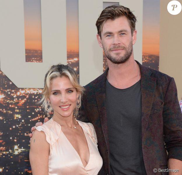 Chris Hemsworth et sa femme Elsa Pataky à la première de Once Upon a Time in Hollywood à Los Angeles, le 22 juillet 2019