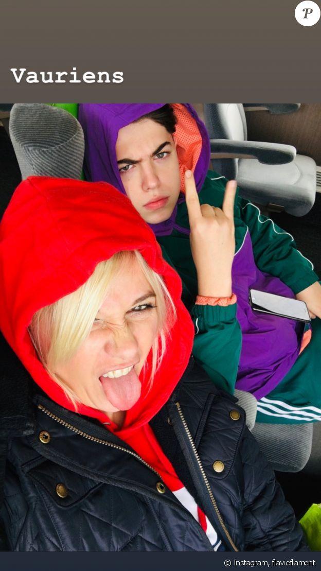 Flavie Flament et son fils Enzo sur Instagram.
