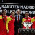 Le roi Felipe VI d'Espagne et Rafael Nadal - L'Espagne remporte la Coupe Davis à Madrid, le 24 novembre 2019, grâce à la victoire de Rafael Nadal contre Denis Shapovalov (6-3, 7-6).