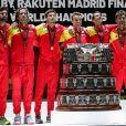 Rafael Nadal, Feliciano Lopez, Sergi Bruguera, Marc Granollers - L'Espagne remporte la Coupe Davis à Madrid, le 24 novembre 2019, grâce à la victoire de Rafael Nadal contre Denis Shapovalov (6-3, 7-6).