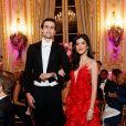 Exclusif - Shanaya Kapoor (en robe Lecoanet Hemant) et son cavalier Maximilian Hindmarch -Les débutantes au Bal 2019 au Shangri-La Hotel, Paris. Le 30 novembre 2019. © Le Bal / Jacovides-Borde-Moreau / Bestimage