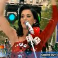 Katy Perry lors de sa performance pour le Today show de NBC le 24 juillet 2009