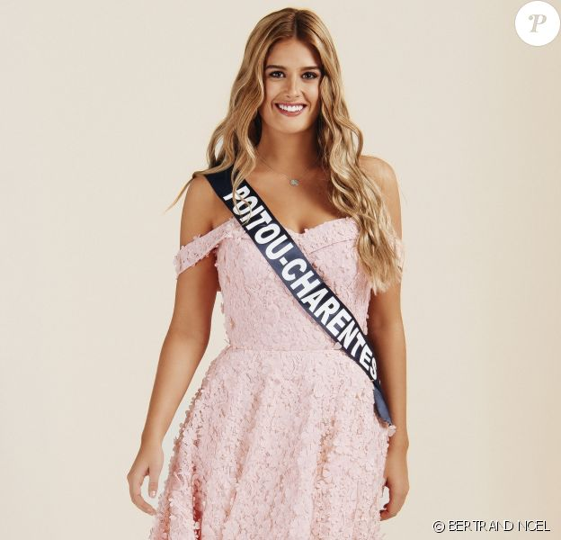 Miss Poitou-Charentes : Andréa Galland, 19 ans, 1,72 m, actuellement en préparation pour entrer à l'école de sous-officier.