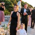 Exclusif - La princesse Sofia de Suède (Hellqvist) lors du mariage de Carolina Pihl et Gunnar Eliassen à Capri le 20 septembre 2019.