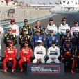 Lewis Hamilton remporte sa 11ème victoire de la saison en triomphant au Grand Prix de Formule 1 d'Abu Dhabi, le 1er décembre 2019. Il devance M. Verstappen (Red Bull) et C. Leclerc (Ferrari).