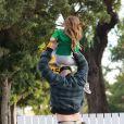 Exclusif - Channing Tatum passe un agréable moment en compagnie de sa fille Everly, le 02 novembre 2019