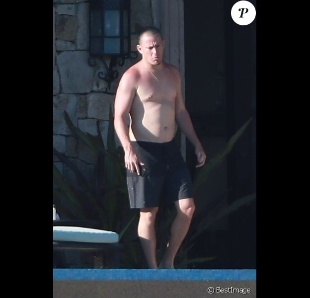 Channing Tatum passe des vacances avec sa fille Everly Tatum et son ami A. Levine et sa femme B. Prinsloo sous le soleil de Cabo San Lucas au Mexique, le 30 mars 2019.