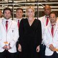 La princesse Charlene de Monaco à Dubaï pour féliciter l'équipe de rugby des Impi's qui participe au Tournoi International de Rugby Sevens. Le 6 décembre 2019.   © Eric Mathon / Palais Princier