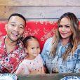 John Legend, Chrissy Teigen et leur fille Luna. 2019.