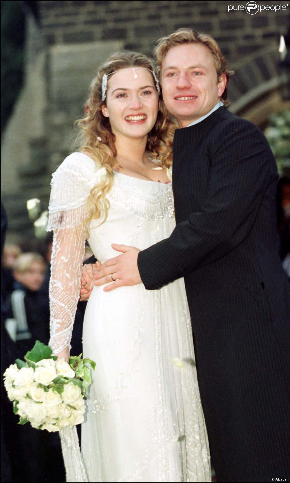 Pour son premier mariage avec Jim Threapleton, Kate Winslet nous rejoue  Titanic dans cette création