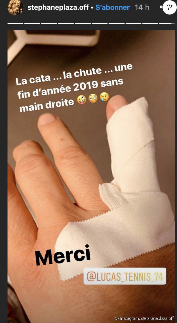 Stéphane Plaza dévoile sa blessure au tennis - Instagram, 30 décembre 2019