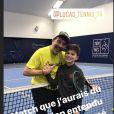 Stéphane Plaza après une partie de tennis avec Lucas Bazin - Instagram, 30 décembre 2019