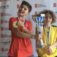Lucas Bazin, champion de tennis âgé de 10 ans - Instagram, Juillet 2019