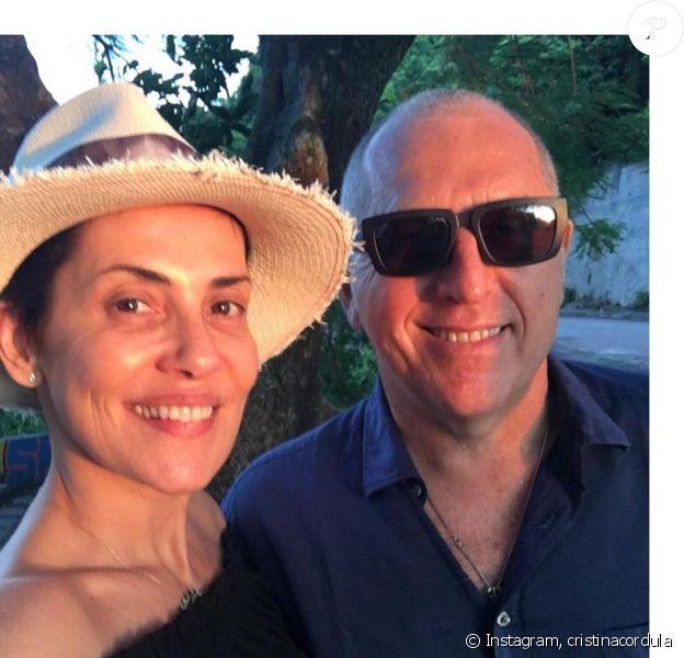 Cristina Cordula avec son mari Frédéric Cassin, le 16 septembre 2019, sur Instagrm