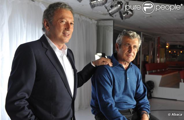Michel Drucker et Michel Boujenah à la conférence de presse du 25e festival de Ramatuelle