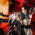 Madonna et son compagnon Ahlamalik Williams lors de la tournée MadameX Tour