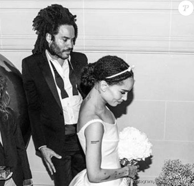 Les photos du mariage de Zoë Kravitz et Karl Glusman célébré à Paris, le 29 juin 2019.