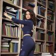 La nouvelle campagne PUMA Automne Hiver 2019 avec Selena Gomez, photos prises dans une librairie. Le 26 novembre 2019.