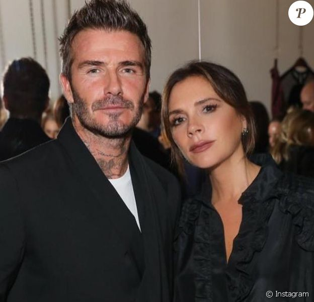 Victoria et David Beckham le 1er octobre 2019 sur Instagram.