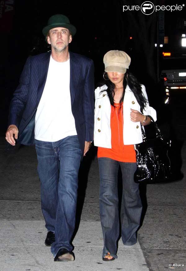 Nicolas Cage et sa femme à New York