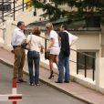 Laeticia Hallyday et Jean-Caude Camus rend visite à Johnny Hallyday à l'hôpital américain. Août 2009